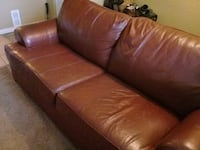 Leather couch good condition Surrey