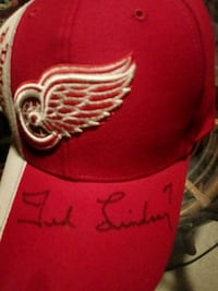 Autographed ted lindsay detroit redwings hat Lawrence, 66044