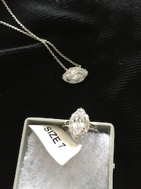 """Costume jewellery ring and 10"""" necklace, size 7, new $20 Mississauga, L5L 5P5"""