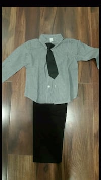 gray and black button-up dress Vernon Hills, 60061