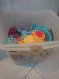 Large bin full of baby and toddler toys