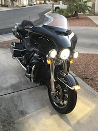 black and gray touring motorcycle Las Vegas, 89149