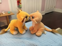 Disney The Lion King Kissing Simba & Nala Sweetheart Plush Stuffed Toys 1993