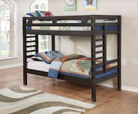 Bunk Bed Finished In Dark Grey  Twin over Twin ---$360 Twin over Full ----$400 Hacienda Heights, 91745