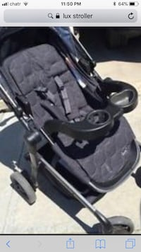 Baby's black and gray stroller 713 km