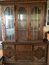 brown wooden framed glass china cabinet Venice, 34285