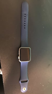 gold aluminum case Apple Watch with black sports band Toronto, M3J 2Z3