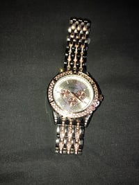 Diamond rose gold and sliver watch for sale  Gaithersburg, 20878
