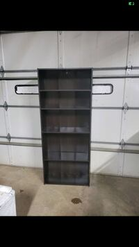 Tall expresso bookcase