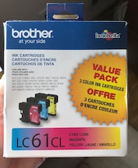 Brother LC 61 Color Combination Ink Cartridges, 3/Pack (LC613PKS) Joppa, 21085