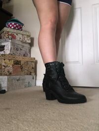 Size 9 Leather Boots with 2.5 inch Heel