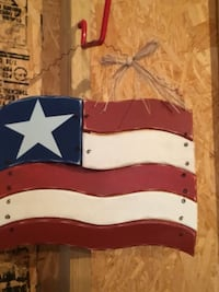 white, blue, and red one star flag hanging decor Ocala, 34479