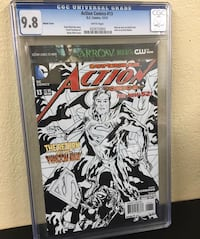 Action Comics 13 Variant Sketch. Only 100 made this one graded at 9.8 Comic Book Hialeah, 33012