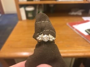 Ladies solitaire diamond engagement and wrap in yellow gold