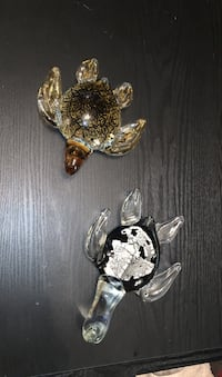 Blown glass turtle figurines