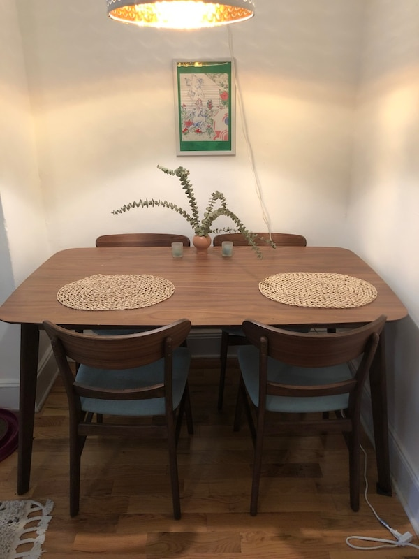 Mid Century style dining set table and chairs
