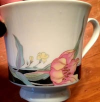 white and pink floral ceramic teacup Ottawa, K2A 0T2