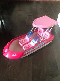 Mattel Barbie Glam Boat Pink Speedboat With Canopy and Barbie Mississauga, L5K 1H5