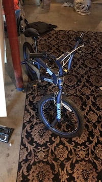 blue and black BMX bike Gilberts, 60136