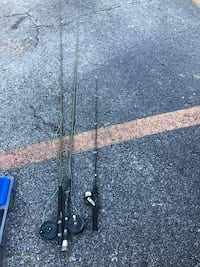 Two fly rods- one fishing rod