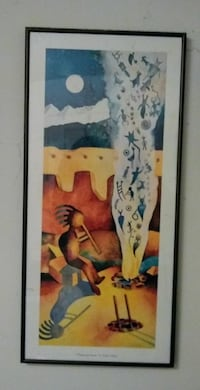 Framed picture of Kokopelli