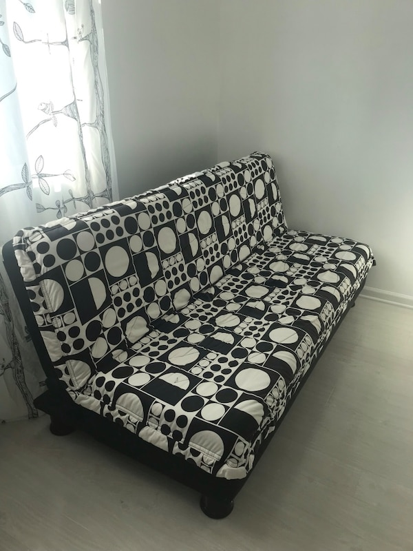 Awe Inspiring Convertible Sofabed Black And White Sofa Bed Ncnpc Chair Design For Home Ncnpcorg