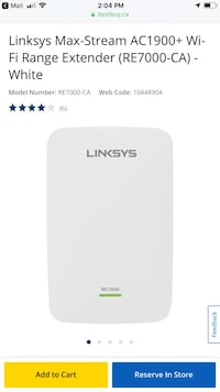 white TP-Link wireless router Mississauga, L5E 0A5