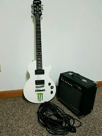 Guitar amplifier and white epiphone electric guitar. Elkhart, 46516