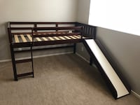 Brown wood loft bed frame with slide Las Vegas, 89117