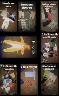 toddler clothes lot collage photo