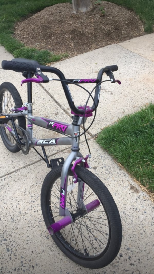 gray black and purple bmx bicycle baafc593-891b-4946-aa45-e6cfd66908f0