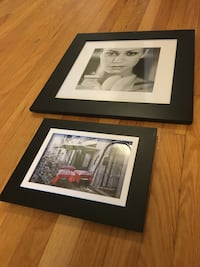 Two black wooden pictures frame Mississauga, L5M 5E2