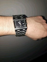 square black analog watch with link bracelet Edmonton, T5H 1T7