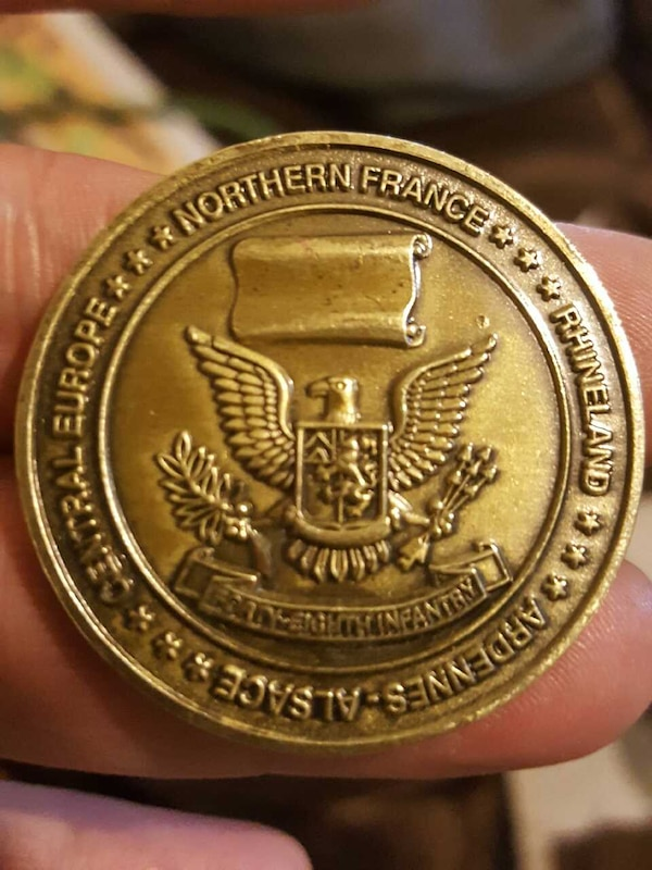 Used 48th infantry dragoons challenge coins from WW2 for
