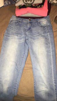 whiskered blue-washed jeans Halifax, B3M 1S6