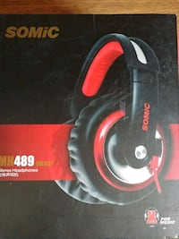 black and red Somic wired headset box Kitchener, N2C