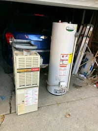 white and blue water heater Detroit, 48205