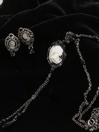 Cameo necklace and earrings North Vancouver