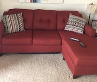 Red sectional sofa Waldorf