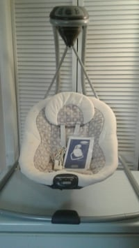 baby's white and gray cradle and swing Rockville, 20853