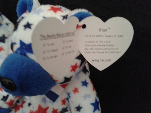 Ty Beanie Babies Red and Blue 10yrs 1
