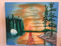 Oil Painting Northern Ontario White  Pines