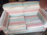 white and pink fabric loveseat Leduc, T9E 6S4