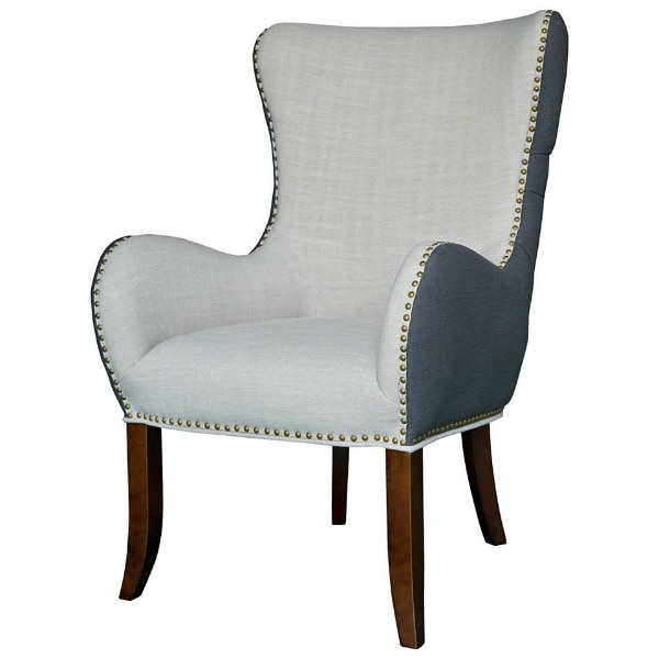 New Open Box Elmer Fabric Tufted Accent Chair – Grey