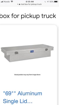 Tool box for pickup truck.Aluminum  with roof rack Hamilton, L0R 1C0