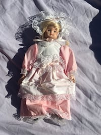 porcelain doll wearing white dress Coal Township, 17866