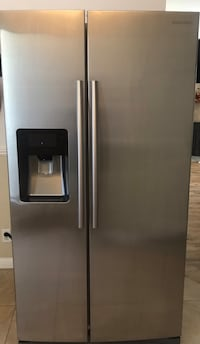 Stainless steel Samsung side-by-side refrigerator with dispenser Modesto, 95355