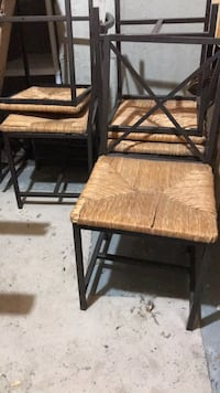 brown wooden frame brown padded chair Milton, L9E
