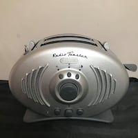RETRO / VINTAGE / UNIQUE KENWOOD STAINLESS STEEL LOOK FM RADIO TOASTER NEVER USED!!!     VIEW MY OTHER ADS!!!  Toronto