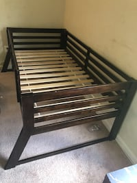 Bed frame great condition. Allows space under neither for storage etc  24 km